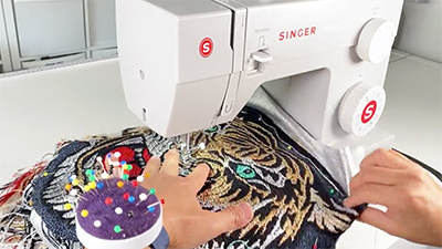 Sewing the tiger