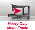 Heavy duty metal frame
